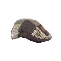 Gorra italiana parches marron