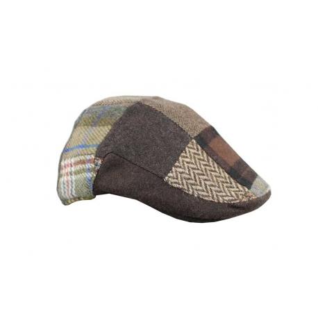 Gorra italiana parches marrón