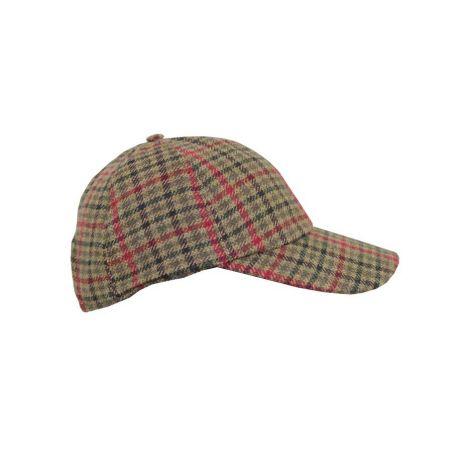 Gorra béisbol pata de gallo verde y rojo