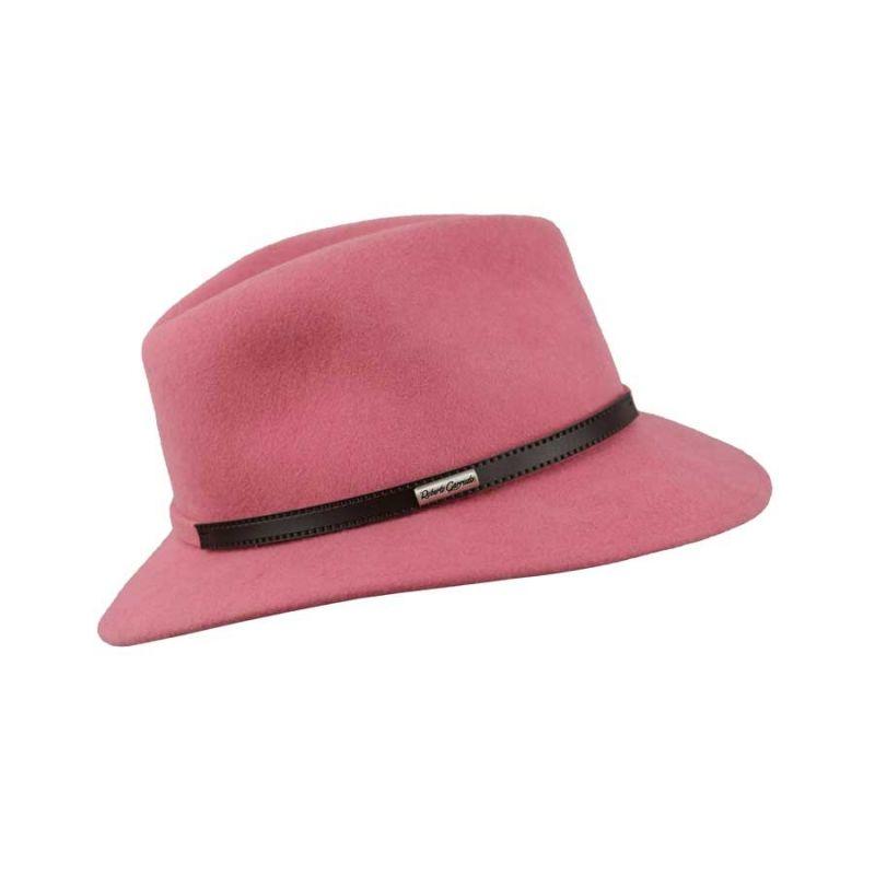 Mascota señora fieltro rosa