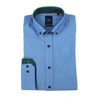 Camisa lisa azulón
