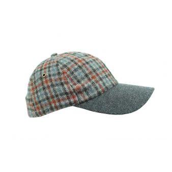 Grey checked baseball cap