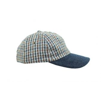 Gorra béisbol rayas azul y marrón