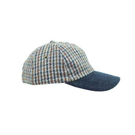 Gorra beisbol rayas azul-marron