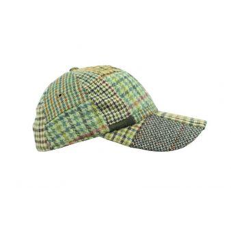 Green patchwork baseball cap
