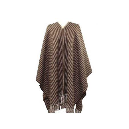 Poncho de lana rayas