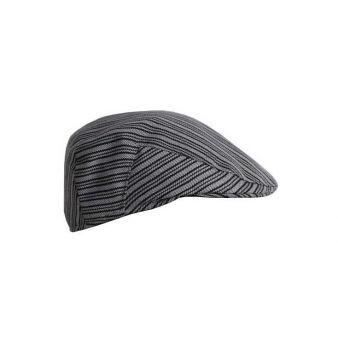 Gorra campera rayas gris