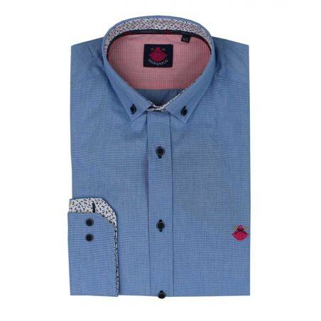 Camisa vichy pequeño azulón