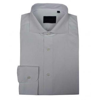 White cut-away collar shirt