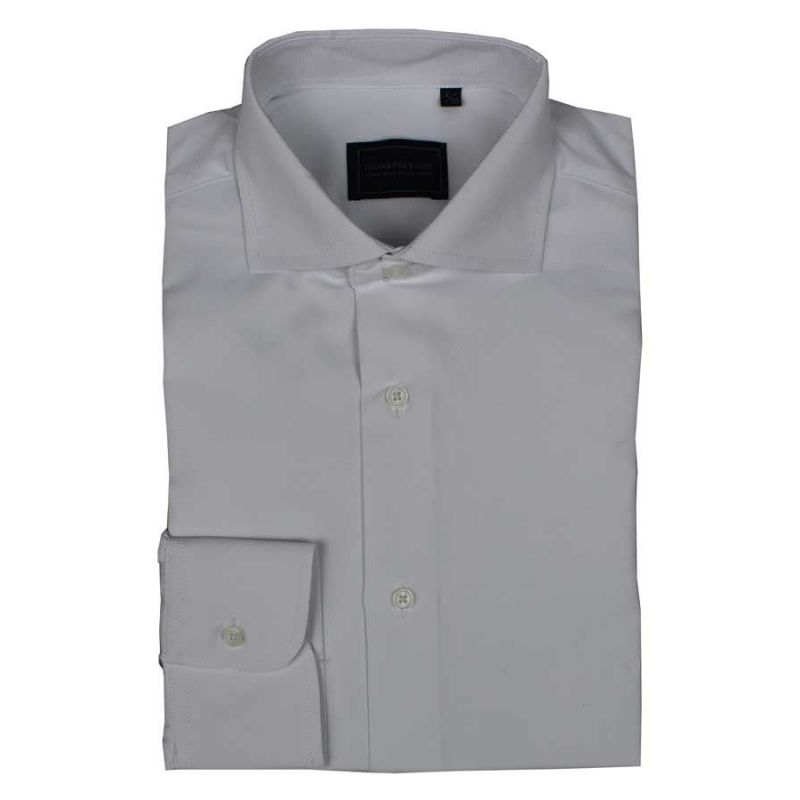 Camisa blanca triángulos