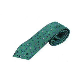 Corbata Seda Flores Verdes