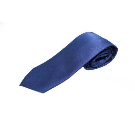 Corbata lisa azulina