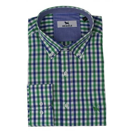 Camisa cuadros azul y verde