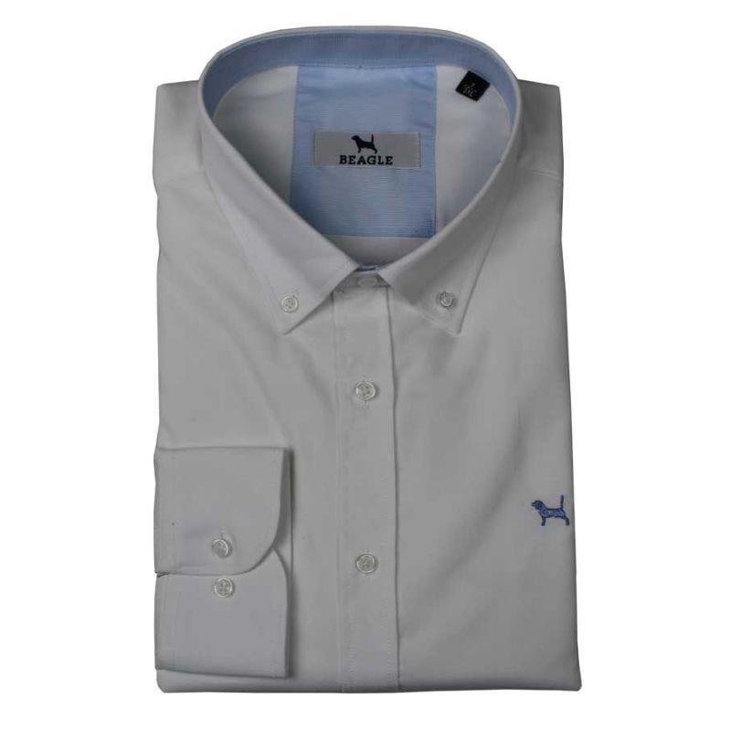 Camisa lisa en color blanco