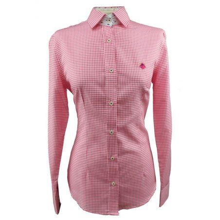 Camisa de Señora Vichy Rojo