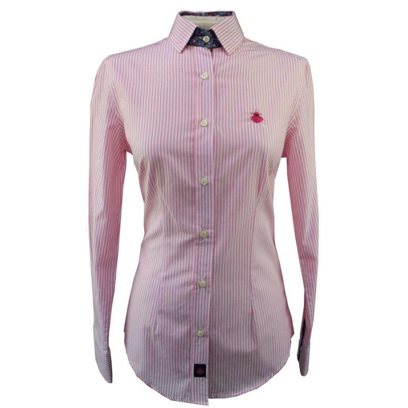 Camisa de Señora con Rayas en Rojo