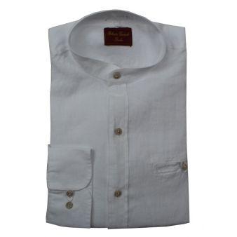 Camisa cuello mao blanco