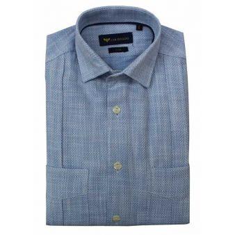Camisa Cubana Celeste
