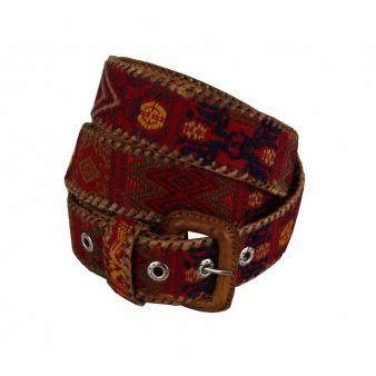 Cinturón naif étnico rojo