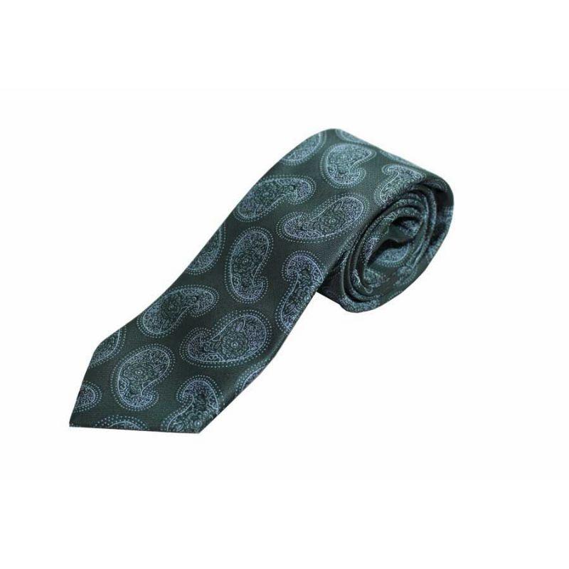 Corbata seda verde cachemire