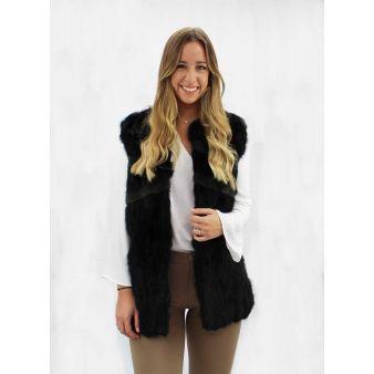 Natural fur sleeveless...