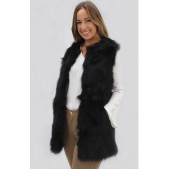 Black natural fur...