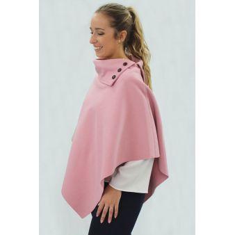 Poncho en color rosa