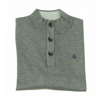 Jersey botones gris marengo