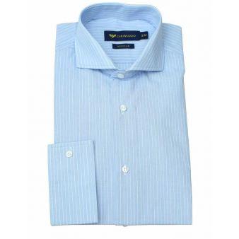 Camisa de vestir raya azul