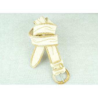 Cinturón cuero blanco