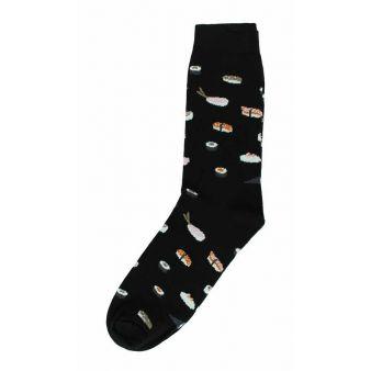 Calcetín negro con sushi