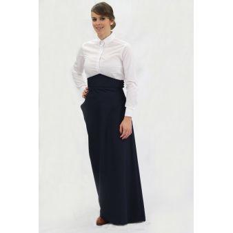 Falda de amazona azul marino