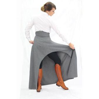 Falda de amazona gris