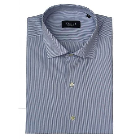 Camisa vestir rayas celestes