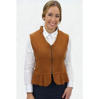 Candela model  camel waistcoat