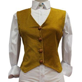 Mustard Rocina model waistcoat