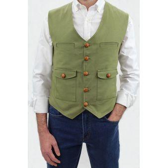 Triana model khaki waistcoat