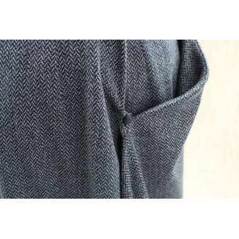 Falda de amazona espiga azul