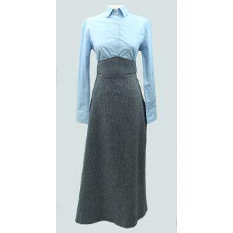 Falda de amazona lana azul