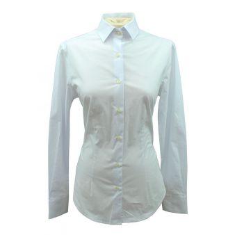 Camisa de señora lisa blanca