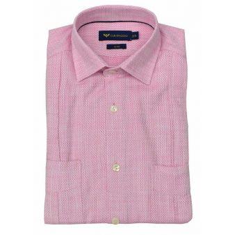 Camisa cubana rosa