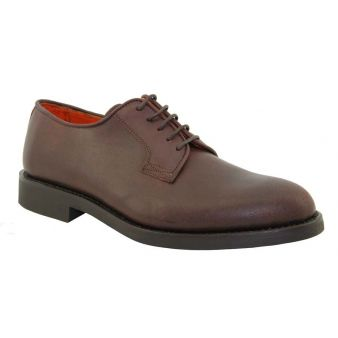 Blucher ternera marrón liso