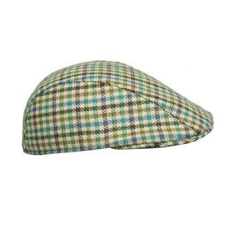 Gorra cuadros verdes y beig