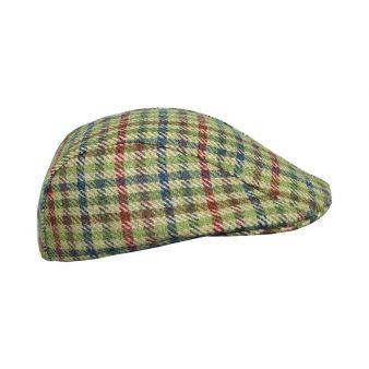 Gorra cuadros verdes