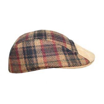 Gorra combinada marrón y beig