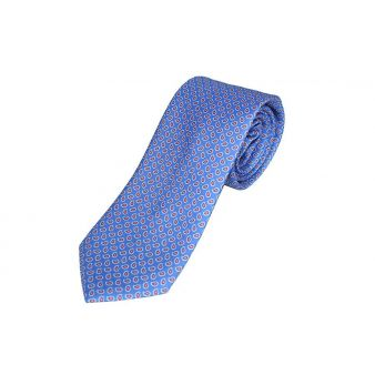 Small blue cashmere silk tie