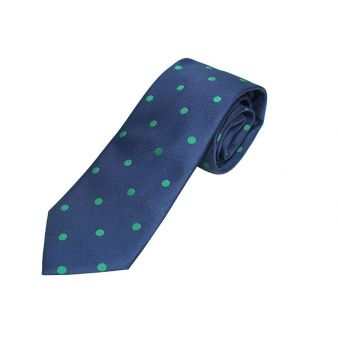 Navy blue silk tie with...