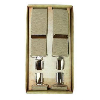 Beige formal braces with...