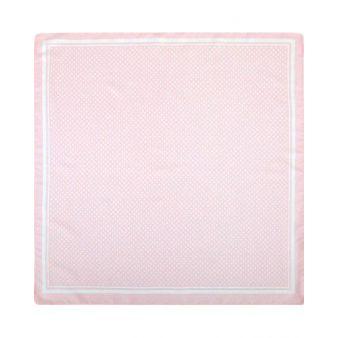 Pañuelo infantil rosa con lunares