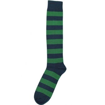 Calcetín rayas azules y verdes